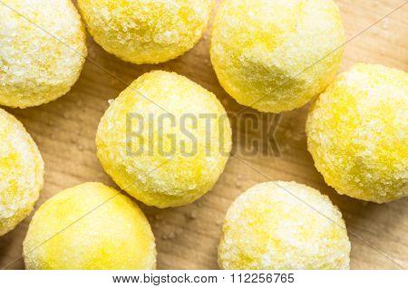 Candy Ball Sweet Lemon Sugar