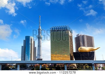 Tokyo Japan - November 15 2015: Tokyo Skytree is the tallest tower in the world and the tallest structure in Japan