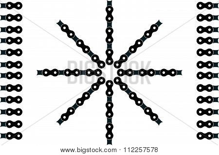 Illustration With Bicycle Chain