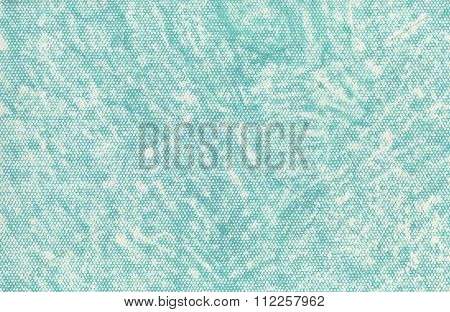 An artistic hand painted texture with a turquoise pastel.
