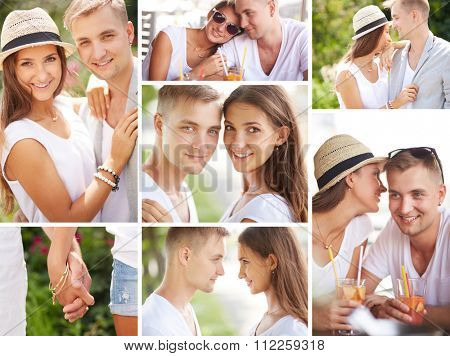 Collection of happy amorous dates