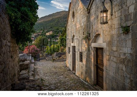 Old Stari Bar fortress medieval buildings street