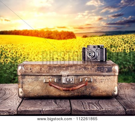 Suitcase with a camera