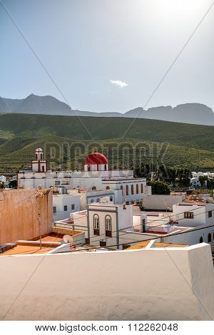 View on Agaete city in Canary islands
