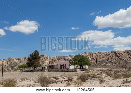 Small chruch on route 40 in Northwest Argentina