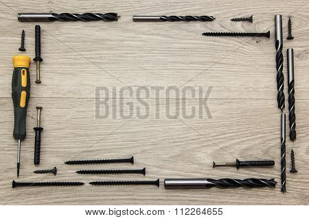 Different construction tools.