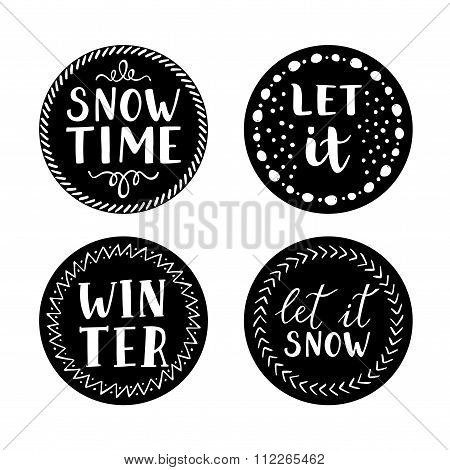 Let it snow Christmas Icons