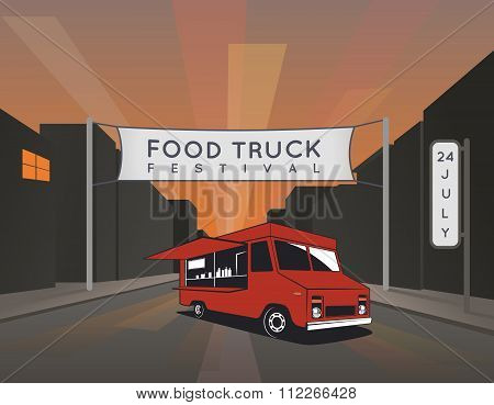 Food Truck Festival Poster. Urban, Street Food Illustrations And Graphics.