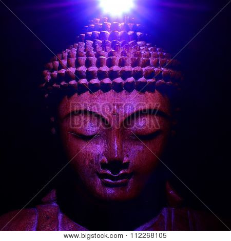 Buddha Face with Crown Light