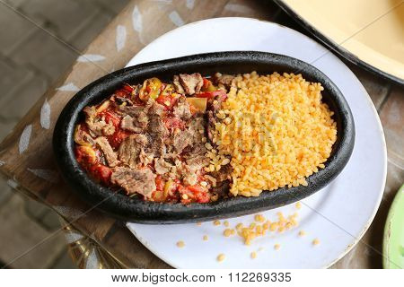 Skillet Meat With Rice