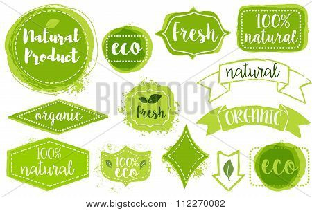 eco and bio products labels