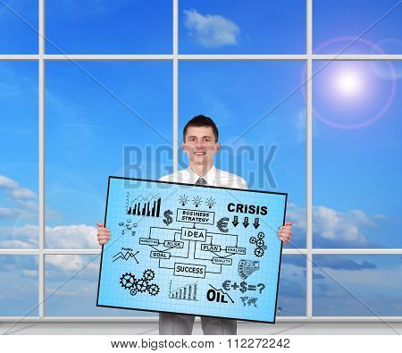 Plasma Panel With Business Metaphors