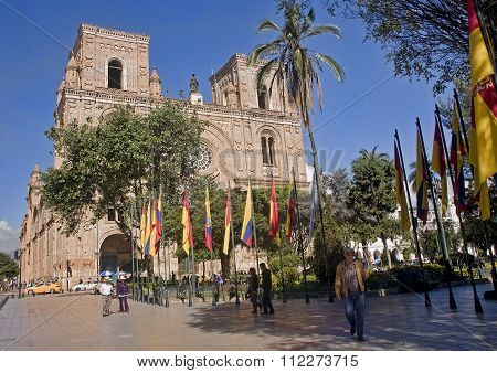 Cuenca, Ecuador - November 27, 2015:  New Cathedral On 27 Novemb