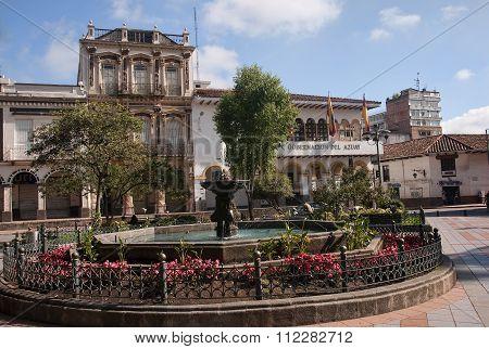 Cuenca, Ecuador - November 28, 2015: Gobernacion Del Azuay On 28