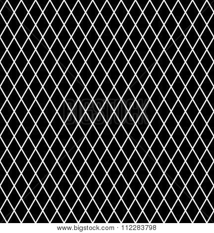Diamonds pattern. Seamless latticed texture. Vector art.