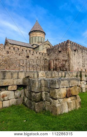Wall of the Svetitskhoveli Cathedral, Living Pillar Cathedral