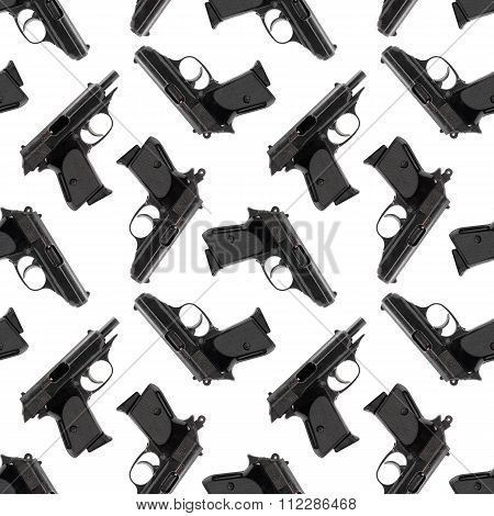 Abstract Seamless Pattern Background. Firearms. Gun