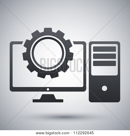 Computer Settings Icon, Vector