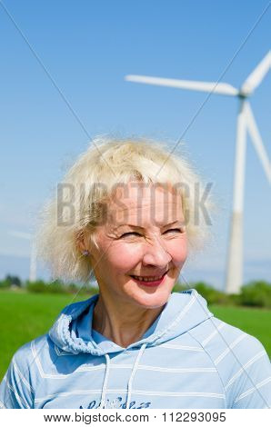 Portrait   Woman On The Background Of Wind-driven