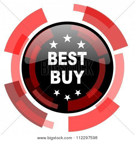 best buy red modern web icon