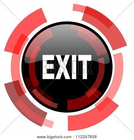 exit red modern web icon