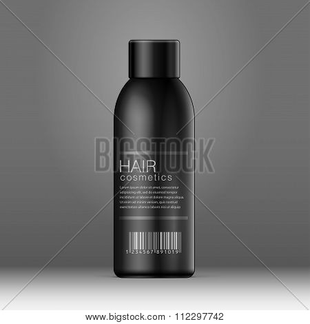 Black Cosmetics Bottle Can, Deodorant