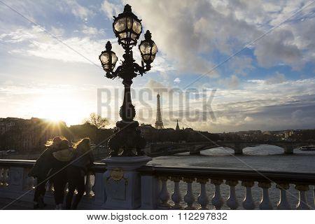 The Sunset In Paris.