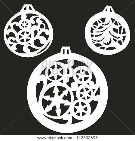 vector illustration Christmas tree balls