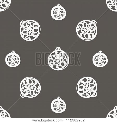 vector background with Christmas tree balls
