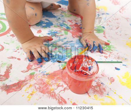 Baby und Farbe
