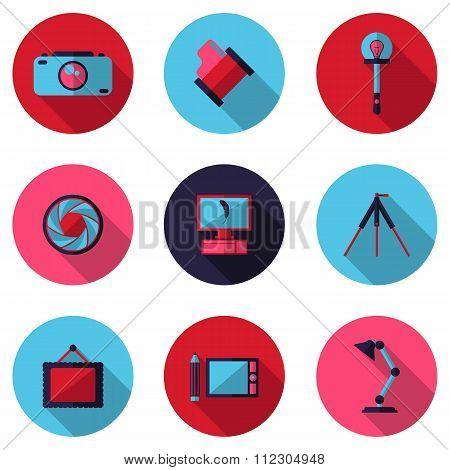 Flat Icons Photographic