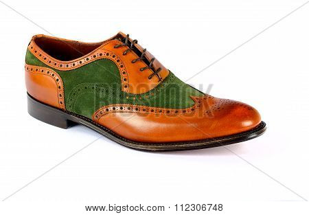 Men's Spectator Style Dress Shoe isolated
