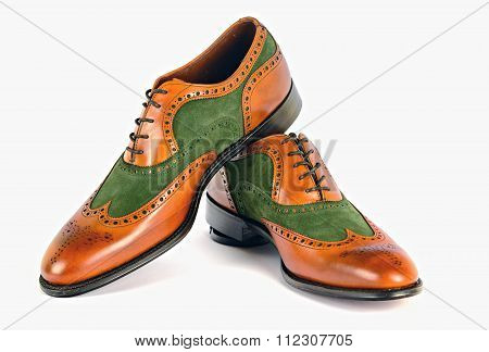 Men's Spectator Style Dress Shoes isolated