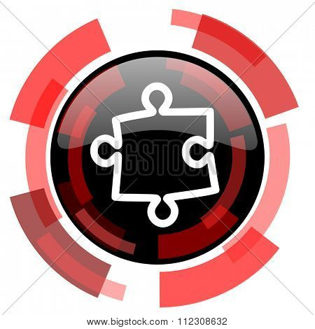 puzzle red modern web icon