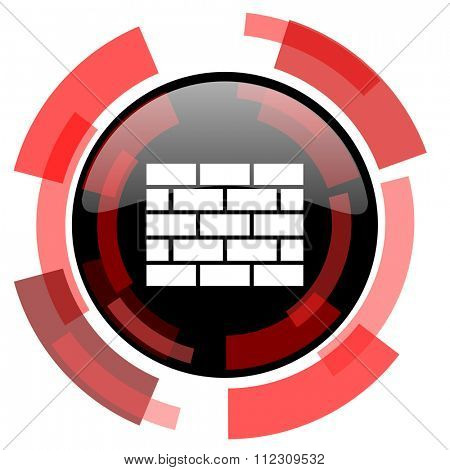 firewall red modern web icon