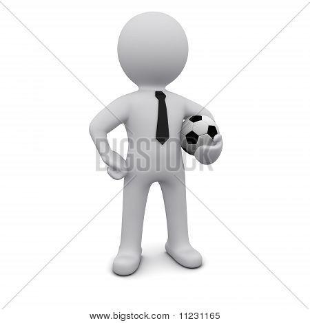Three-dimensional man in a tie