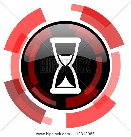 time red modern web icon