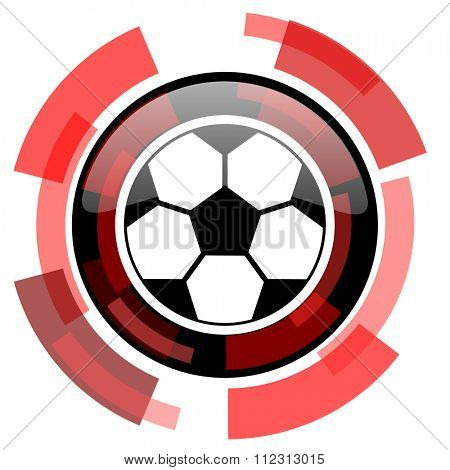 soccer red modern web icon