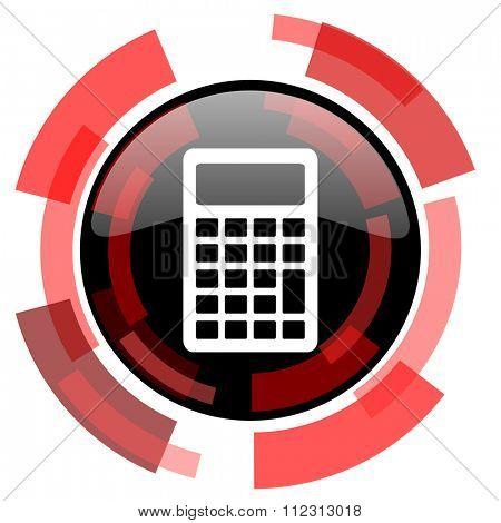 calculator red modern web icon