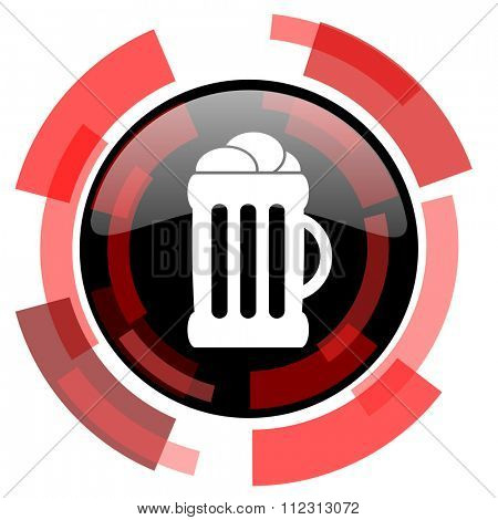 beer red modern web icon