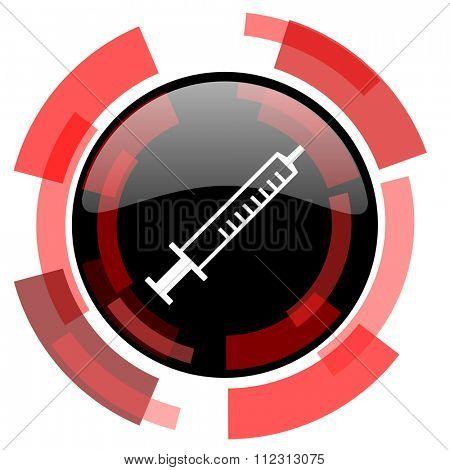 medicine red modern web icon