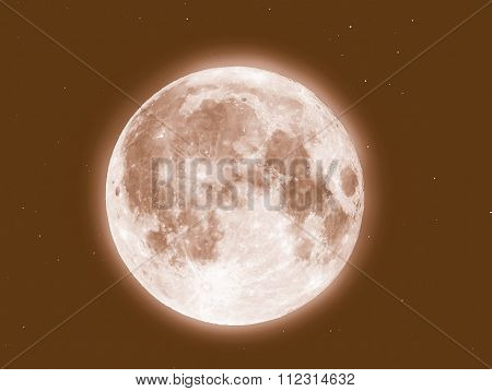 Retro Looking Moon And Stars