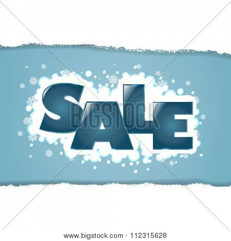 Winter Sale Background With Snowflakes