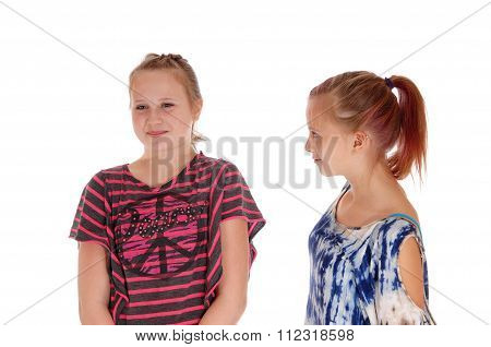 Two Sisters Arguing With Each Other.