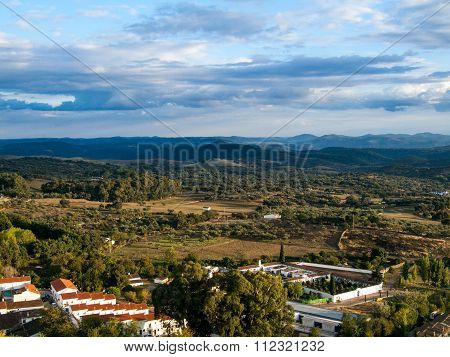 Mountains in the town of Aracena, Huelva