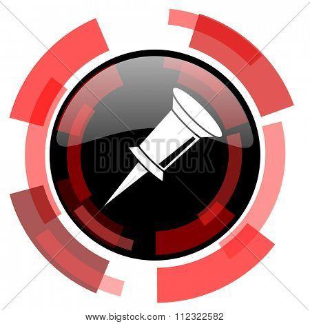 pin red modern web icon