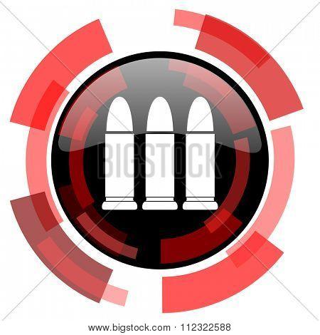 ammunition red modern web icon