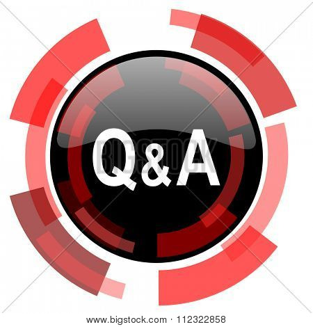 question answer red modern web icon
