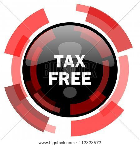 tax free red modern web icon