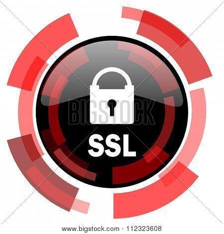 ssl red modern web icon